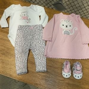 Gymboree Leopard pant dress shoes Onsie set